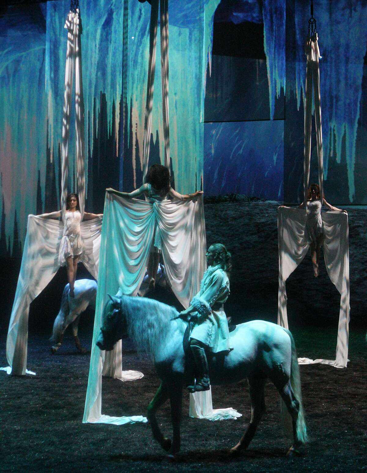 """A performer and horse in Cavalia's new show """"Odysseo"""""""