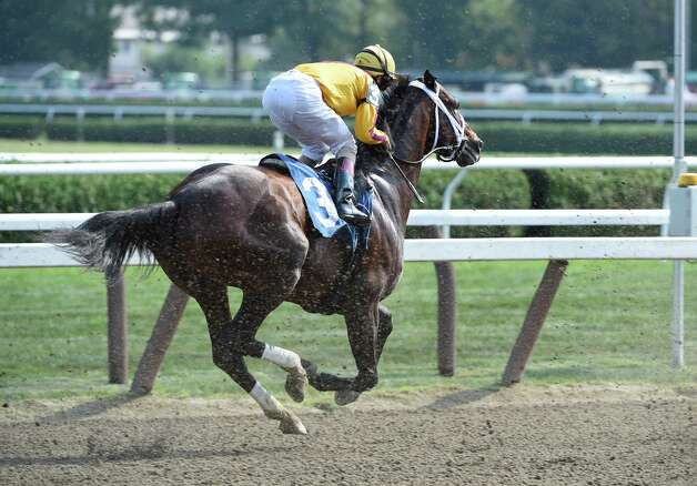 Jess's Dream, the offspring of two champions, Curlin the sire and Rachel Alexandra the dam is left behind at the start of the sixth race on the card Monday Aug. 24, 2015 at the Saratoga Race Course  in Saratoga Springs, N.Y.      (Skip Dickstein/Times Union) Photo: SKIP DICKSTEIN