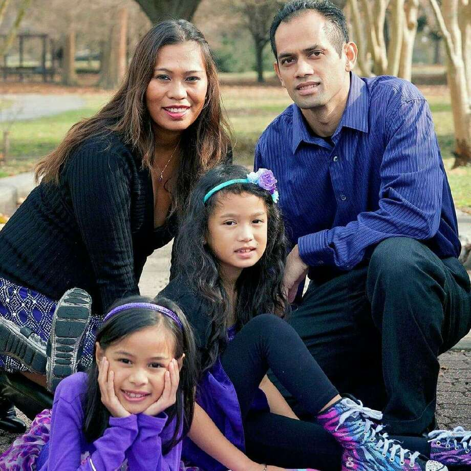 James Escamos and his wife moved to Houston after losing their home in Hurricane Katrina 10 years ago. Here, they have raised their two daughters, who are 9 and 7.