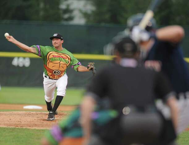 Tri-City ValleyCats pitcher Chris Murphy throws the ball during a baseball game against the Connecticut Tigers at Joe Bruno Stadium on Monday, Aug. 24, 2015 in Troy, N.Y. (Lori Van Buren / Times Union) Photo: Lori Van Buren / 00033090A