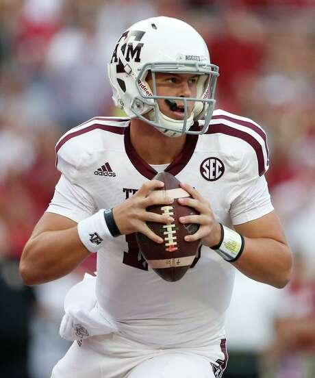 Kyle Allen went 3-2 as Texas A&M's starting quarterback last season. Photo: Karen Warren, Staff / © 2014 Houston Chronicle