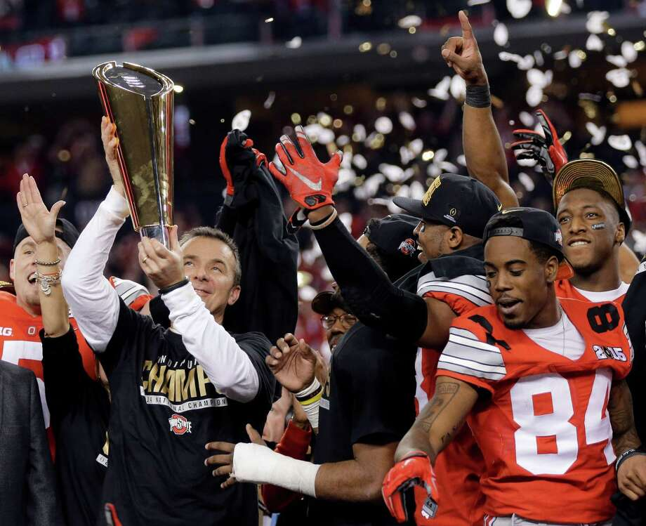 Ohio State and Urban Meyer shocked the world last season by winning the first College Football Playoff at AT&T Stadium. Photo: Eric Gay /Associated Press / AP
