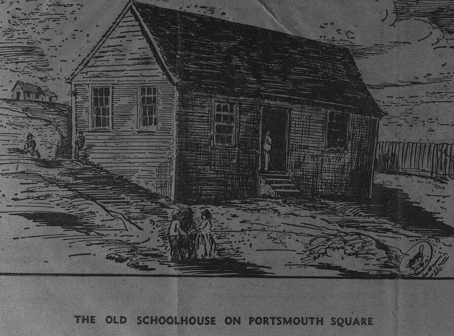 The Old School house on Portsmouth Square San Francisco's first school (?) Photo: Handout