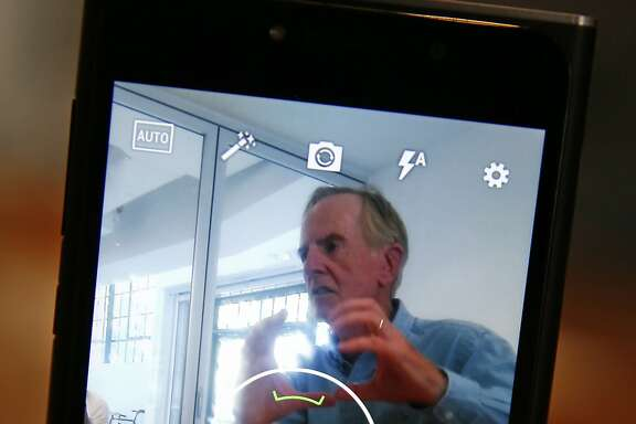 Former Apple CEO John Sculley's new company, Obi Worldphone, is set to unveil a new line of smart phones that face an uphill climb against his old company's iPhone. Obi Worldphone's SF1 smart phone in San Francisco, Calif., on Monday, Aug. 24, 2015.