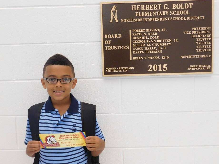 First day at Boldt Elementary School! Photo: Courtesy Of MySA Readers