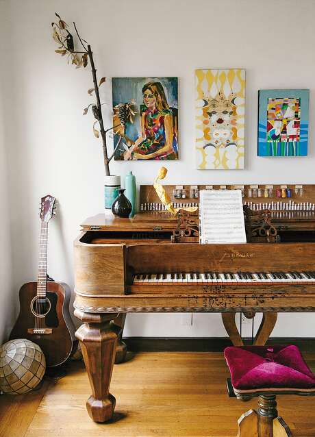 "The Berkeley Hills home of designer Erica Tanov and her musician husband is featured in Justina Blakeney's book ""The New Bohemians."" Photo: Dabito"