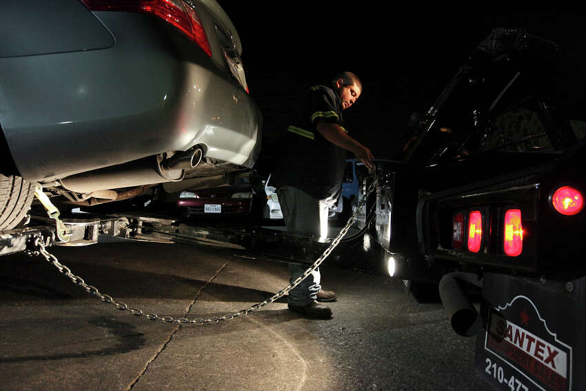 2. What if my car's fully attached to the tow truck but hasn't left the property? State law and a San Antonio ordinance requires tow companies to offer a