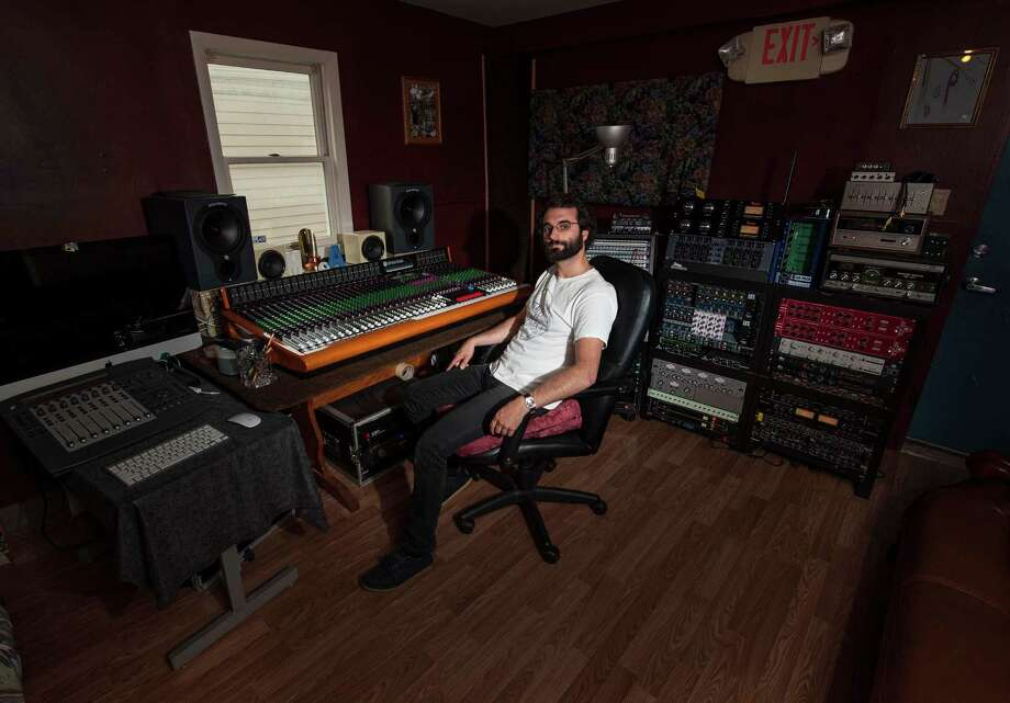 Matt Vitti owner and engineer in the control room at Mother Brother Studios in Bethel, CT. Thursday, August 20, 2015. Photo: Mark Conrad / For Hearst Connecticut Media / Stamford Advocate Freelance