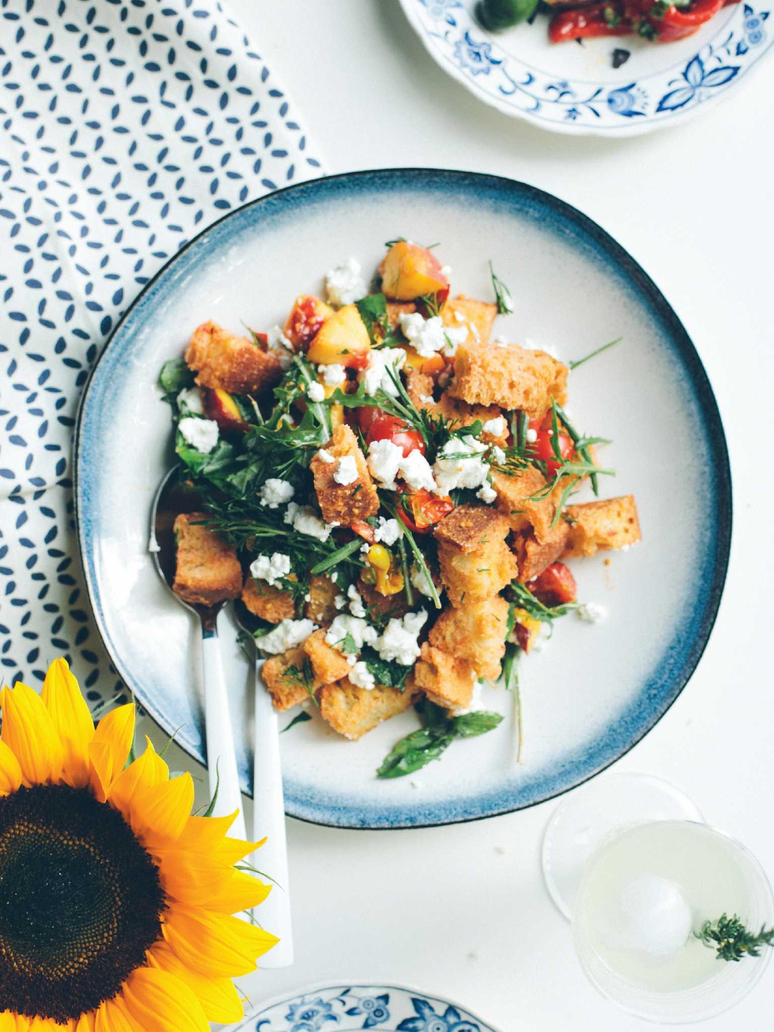 Recipe: Roasted Tomato and Peach Panzanella - San Antonio ...