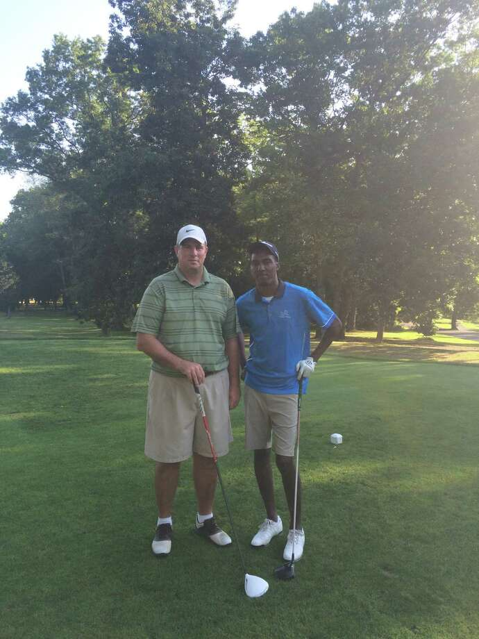 Rodein Minto, right, defeated Pat Yerina 6 and 5 to win the Wheeler Park Men's Club Championship at Fairfield Wheeler. Photo: Contributed / Contributed Photo / Connecticut Post Contributed