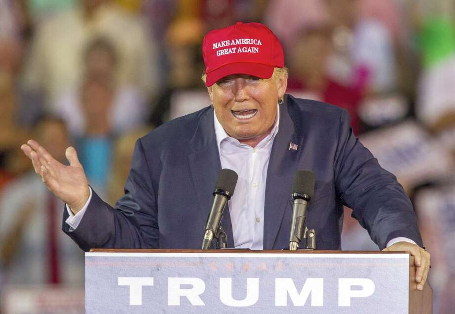 Republican presidential candidate Donald Trump speaks during a rally at Ladd-Peebles Stadium on August 21, 2015 in Mobile, Alabama. Because Trump is so loud, omnipresent, multiplatform and cutting, he's shaping the perception of the other candidates. Photo: Mark Wallheiser /Getty Images / 2015  Getty Images