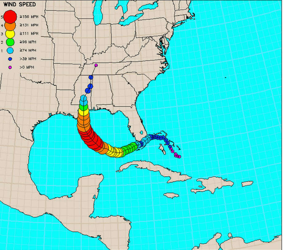 Hurricane Katrina first made landfall in Florida as a mere tropical storm. But the cycle refueled over the Gulf of Mexico and grew into a Category 5 storm before veering toward New Orleans. Photo: NOAA