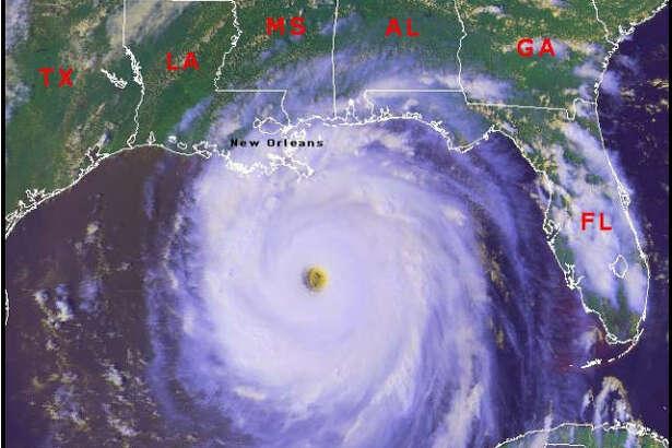 Hurricane Katrina, near full-strength, as it made landfall.