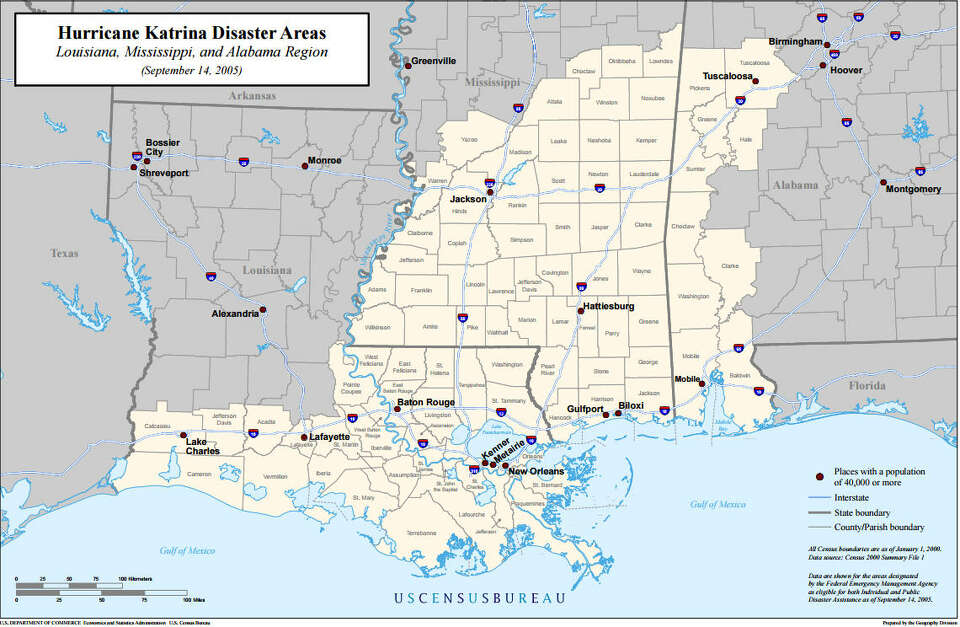 16 Maps And Charts That Show Hurricane Katrina S Deadly Impact Houston Chronicle