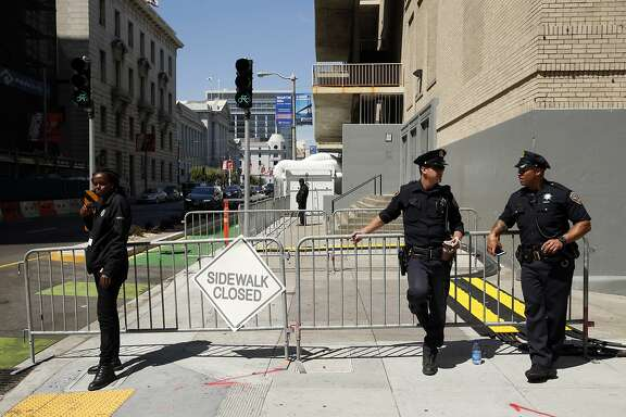Activity at Bill Graham Civic Auditorium in San Francisco, Calif., on Tuesday, Aug. 25, 2015.