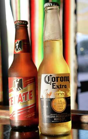Authentic Mexican beer at La Mexicana restaurant and grocery Wednesday July 29, 2015 in Schenectady,NY.  (John Carl D'Annibale / Times Union) Photo: John Carl D'Annibale / 00032806A