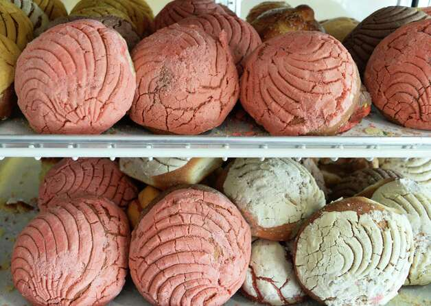 Concha (Mexican sweet bread) at La Mexicana restaurant and grocery Wednesday July 29, 2015 in Schenectady,NY.  (John Carl D'Annibale / Times Union) Photo: John Carl D'Annibale / 00032806A
