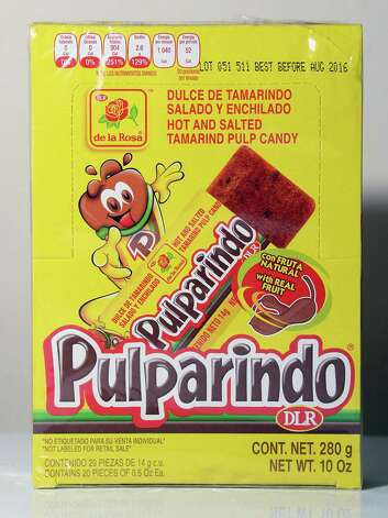 Pulparindo, a tamarind candy at La Mexicana restaurant and grocery Wednesday July 29, 2015 in Schenectady,NY.  (John Carl D'Annibale / Times Union) Photo: John Carl D'Annibale / 00032806A