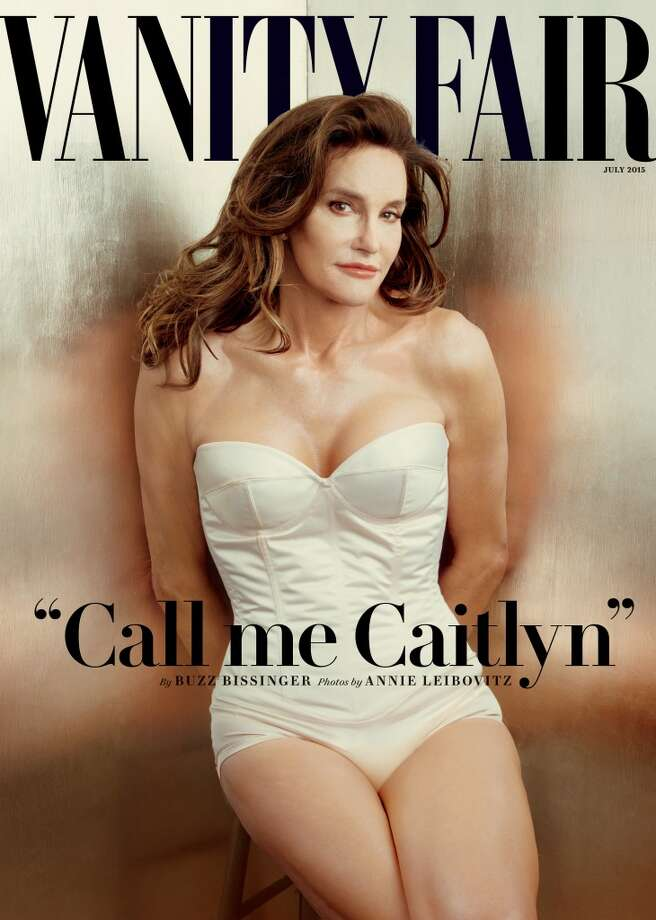 This file photo taken by Annie Leibovitz exclusively for Vanity Fair shows the cover of the magazine's July 2015 issue featuring Bruce Jenner debuting as a transgender woman named Caitlyn Jenner. Jenner made her public debut on the cover of Vanity Fair, but legal requirements await her before she can officially leave Bruce Jenner behind.  (Annie Leibovitz/Vanity Fair via AP, File) Photo: Associated Press