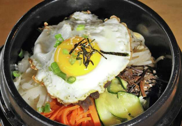 An order of BiBim Bop at Namu Korean BBQ on Central Avenue Friday March 20, 2015 in Colonie, NY.   (John Carl D'Annibale / Times Union) Photo: John Carl D'Annibale / 10031115A