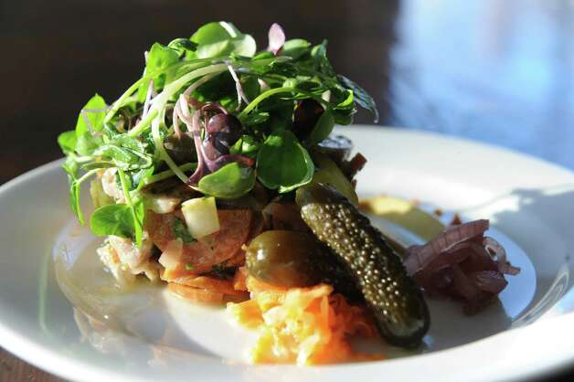 Wurst salat at The Flammerie on Wednesday Feb. 25, 2015 in Kinderhook, N.Y. (Michael P. Farrell/Times Union) Photo: Michael P. Farrell / 00030744A
