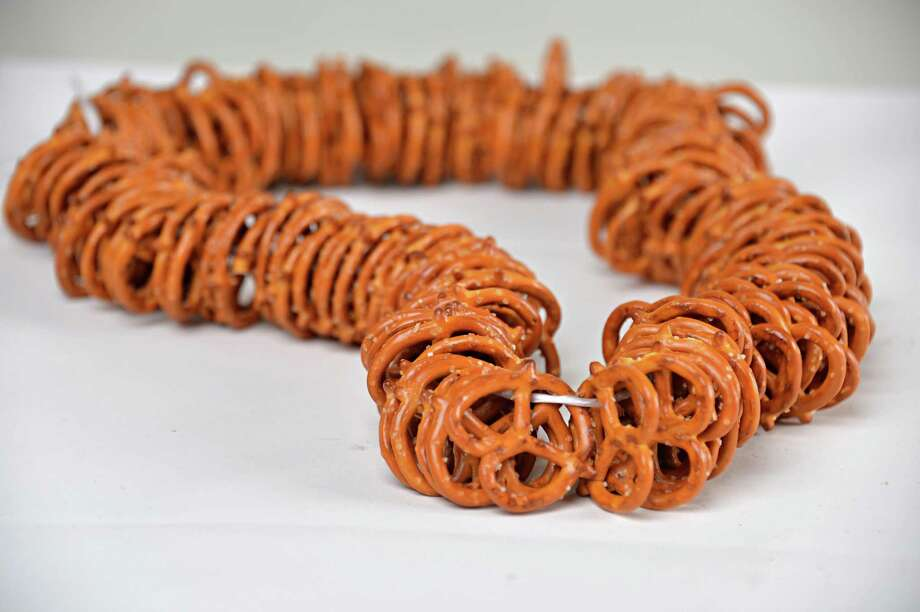 A pretzel necklace in the Times Union studion Tuesday Sept. 2, 2014, in Colonie, NY.  (John Carl D'Annibale / Times Union) Photo: John Carl D'Annibale / 00028404A