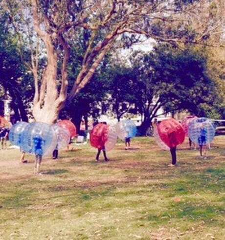 Bubble soccer in the Panhandle