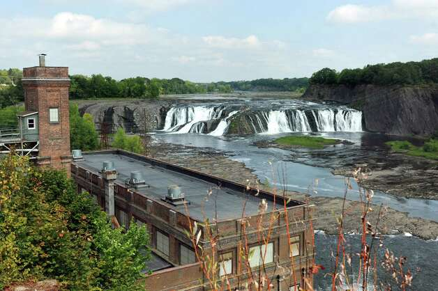 The School Street Hydroelectric Facility at the Cohoes Falls on Tuesday, Aug. 25, 2015, in Cohoes, N.Y. (Cindy Schultz / Times Union) Photo: Cindy Schultz / 00033097A