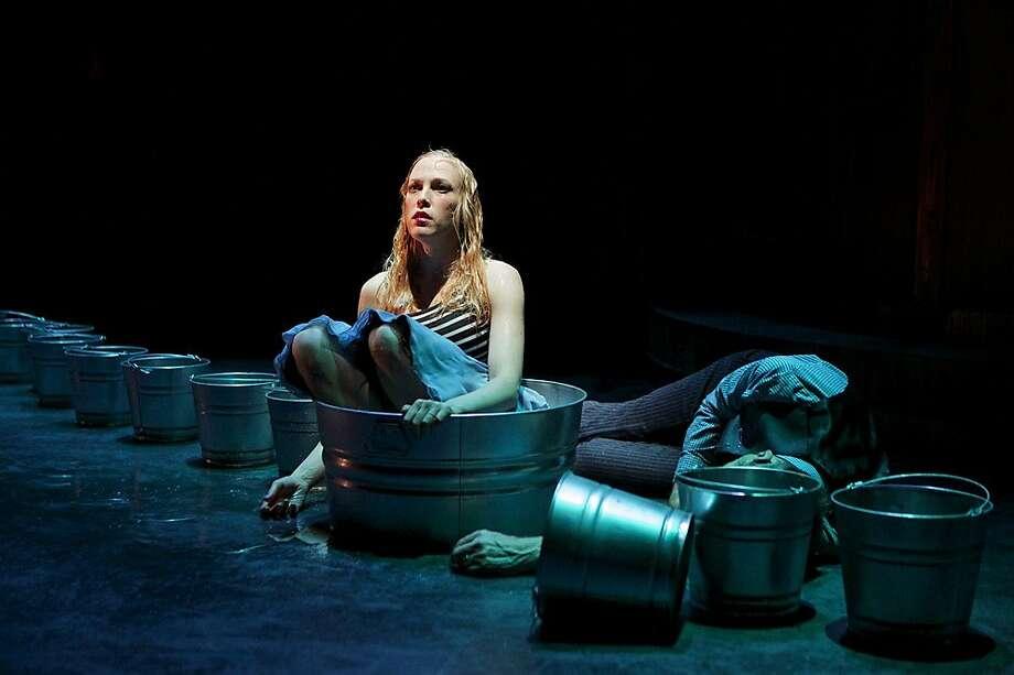 "Eurydice (Megan Trout) ponders her afterlife in the Underworld in Shotgun Players' production of Sarah Ruhl's ""Eurydice"" Photo: Pak Han"