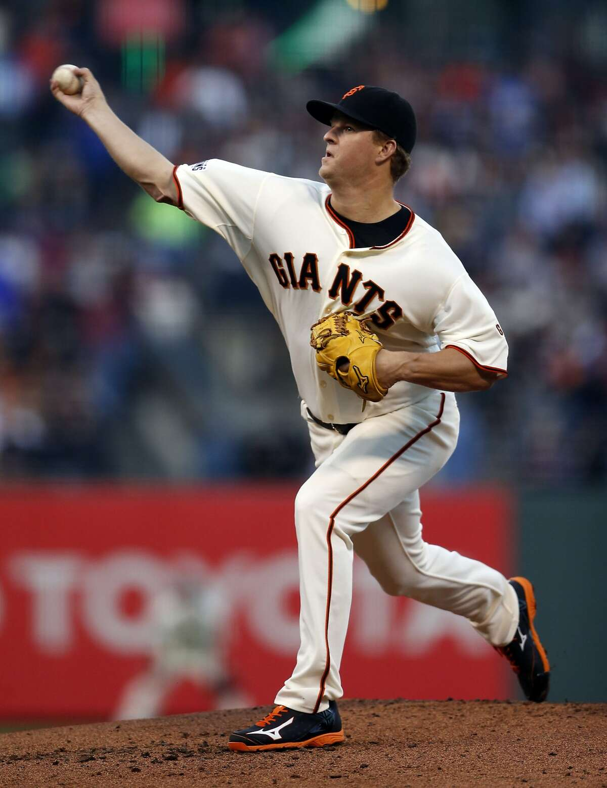 San Francisco Giants' Matt Cain pitches against Chicago Cubs in 2nd inning during MLB game at AT&T Park in San Francisco, Calif., on Tuesday, Aug. 25, 2015.