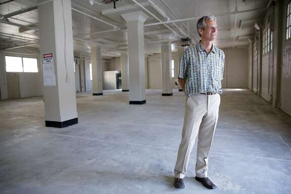 Howard Flax stands at the site of his new arts and crafts store in Fort Mason in San Francisco, California, on Tuesday, Aug. 25, 2015.