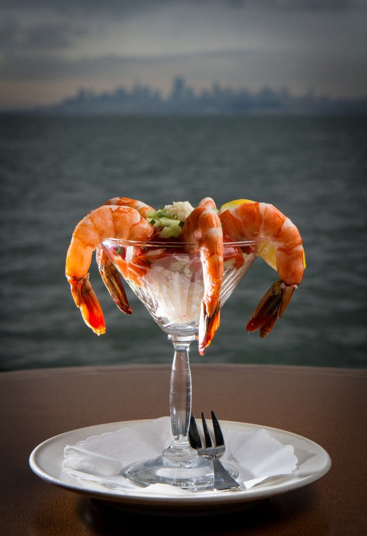 The Prawn cocktail at the Trident restaurant in Sausalito, Calif. is seen on Saturday, December 15th, 2012.