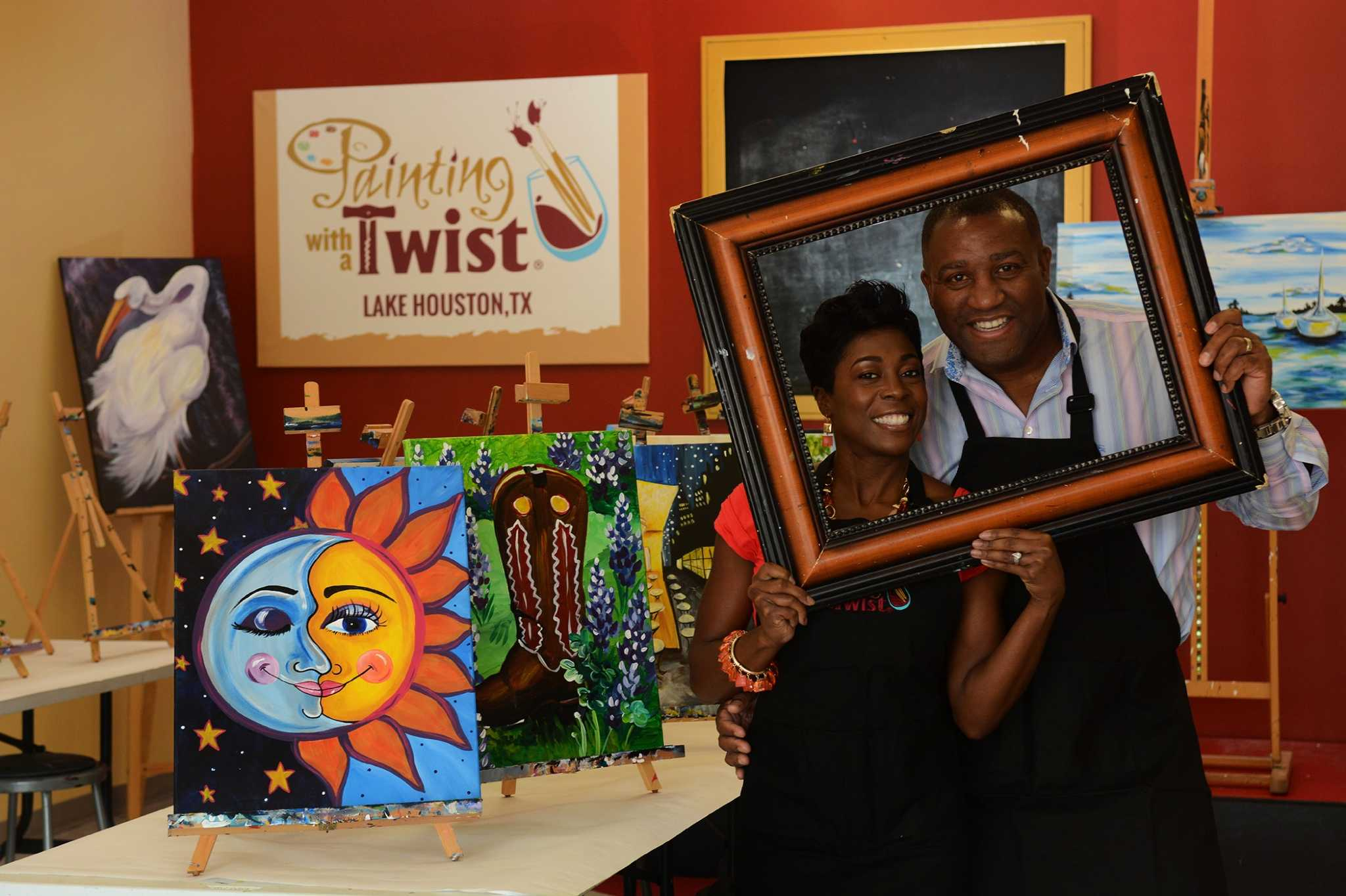 These katrina survivors craft new life in texas houston for Painting with a twist conroe