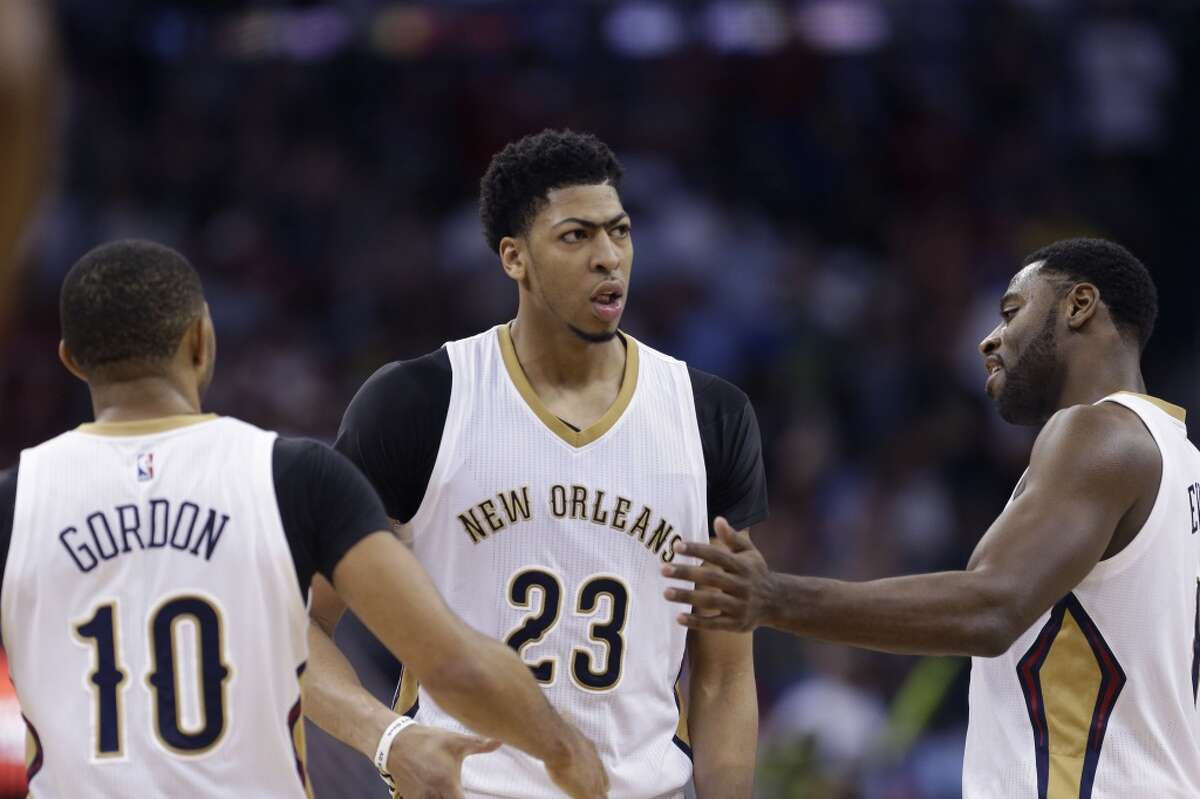 11. New Orleans Pelicans The Pelicans can keep moving up just by having Anthony Davis move another year into superstardom. That might explain the decision to largely keep the roster around him intact, with Omer Asik back to keep Davis from having to play center (with Kendrick Perkins added to make sure) and with the same backcourt of Tyreke Evans, Eric Gordon and Jrue Holiday. Davis is special enough that it could work.