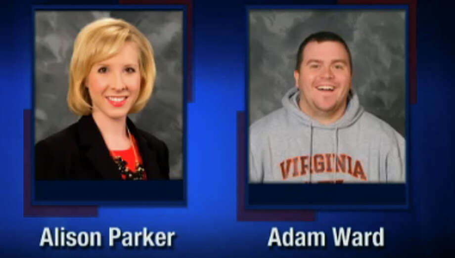 This screenshot from WDBJ-TV7, in Roanoke, Va., shows reporter Alison Parker and photographer Adam Ward. Parker and Ward were killed, Wednesday, Aug. 26, 2015, when a gunman opened fire during a live on-air interview in Moneta, Va. Photo: Courtesy Of WDBJ-TV7 Via AP / WDBJ-TV7