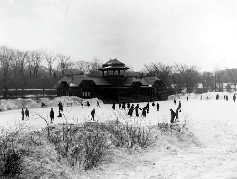 Ice skating has been a popular winter pastime in the Capital Region over the decades. Click through a slideshow (or is it a glide show?) of images from the Times Union archives.  Ice skaters near the original boathouse in Washington Park, circa late 1880s, in Albany, N.Y. The boathouse was designed by Frederick W. Brown and completed in 1876. Skating was introduced in 1874. (Times Union archive)