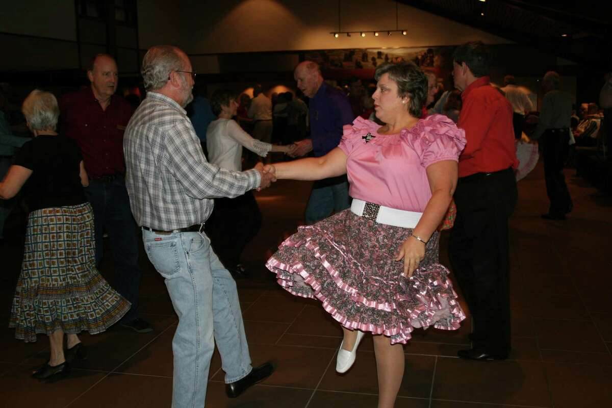 """The Hey Lollies Square Dance Club is seeking prospective members for its upcoming class. As an introduction, the club will hold a free """"Fun Night"""" on Sept. 10 at 7:25 p.m. at Memorial Drive Christian Church. Members come from Katy, Cypress, Livingston, Friendswood, Channelview and the Inner Loop. Ben and Shirley Bryant dance in the foreground.  The Hey Lollies Square Dance Club is seeking prospective members for its upcoming class. As an introduction, the club will hold a free """"Fun Night"""" on Sept. 10 at 7:25 p.m. at Memorial Drive Christian Church. Members come from Katy, Cypress, Livingston, Friendswood, Channelview and the Inner Loop. Ben and Shirley Bryant dance in the foreground."""