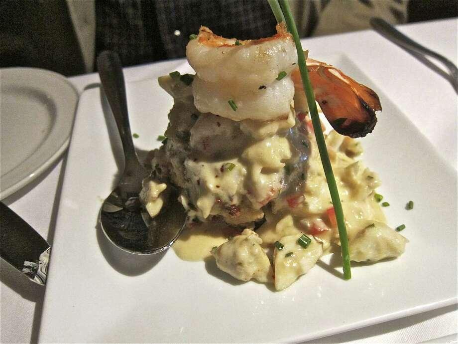 The jumbo lump crab cake at Killen's Steakhouse Photo: Alison Cook