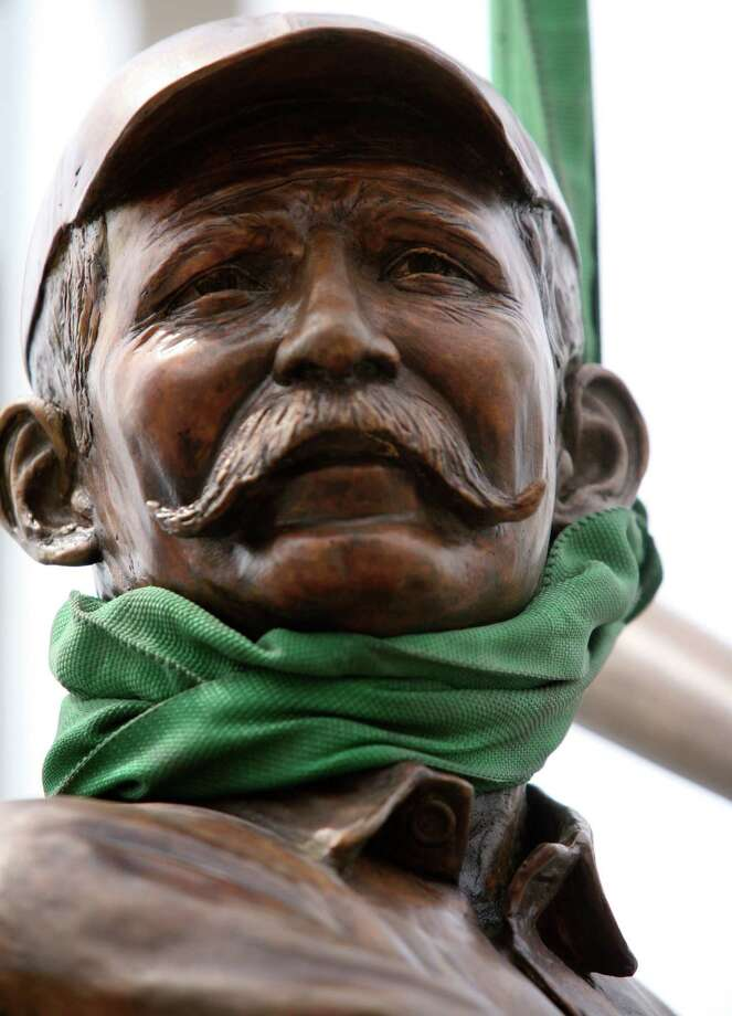 A statue of 1945 Baseball Hall of Fame member James O'Rourke, crafted by Sculptor Susan Clinard of East Haven, was installed in front of the Ballpark at Harbor Yard in Bridgeport, Conn. on Saturday August 21, 2010. Photo: David Ames / ST / Connecticut Post