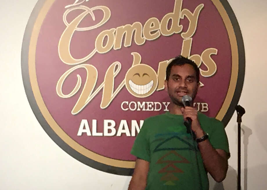 Aziz Ansari perfomring Tuesday night at The Comedy Works in Albany. (Comedy Works photo.)