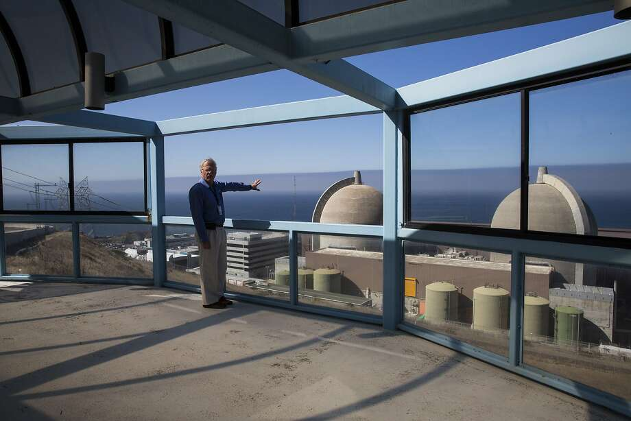 Monday August 24, 2015 Jearl Strickland director of Director Technical Services at Pacific Gas and Electric Company views the Diablo Canyon Power Plant from a lookout point above the facility.  The Diablo Canyon Power Plant is an electricity-generating nuclear power plant near Avila Beach in San Luis Obispo County, California.  (Nancy Pastor/For the San Francisco Chronicle) Photo: Nancy Pastor, Nancy Pastor For The SF Chronicl