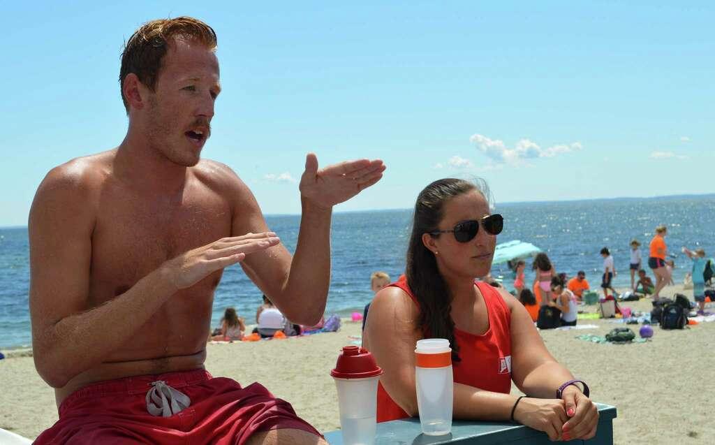 Summer setting at Westport beaches even for lifeguards Westport – Head Lifeguard