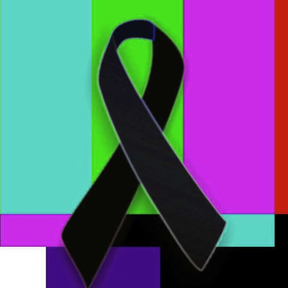 Facebook profile image showing black ribbon over color bars test pattern honoring the slain journalists from WDBJ, August 26, 2015