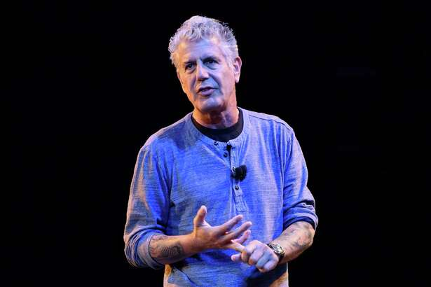 CHICAGO, IL - JULY 30:  Anthony Bourdain speaks on stage during the Close to the Bone Tour at Auditorium Theatre on July 30, 2015 in Chicago, Illinois.