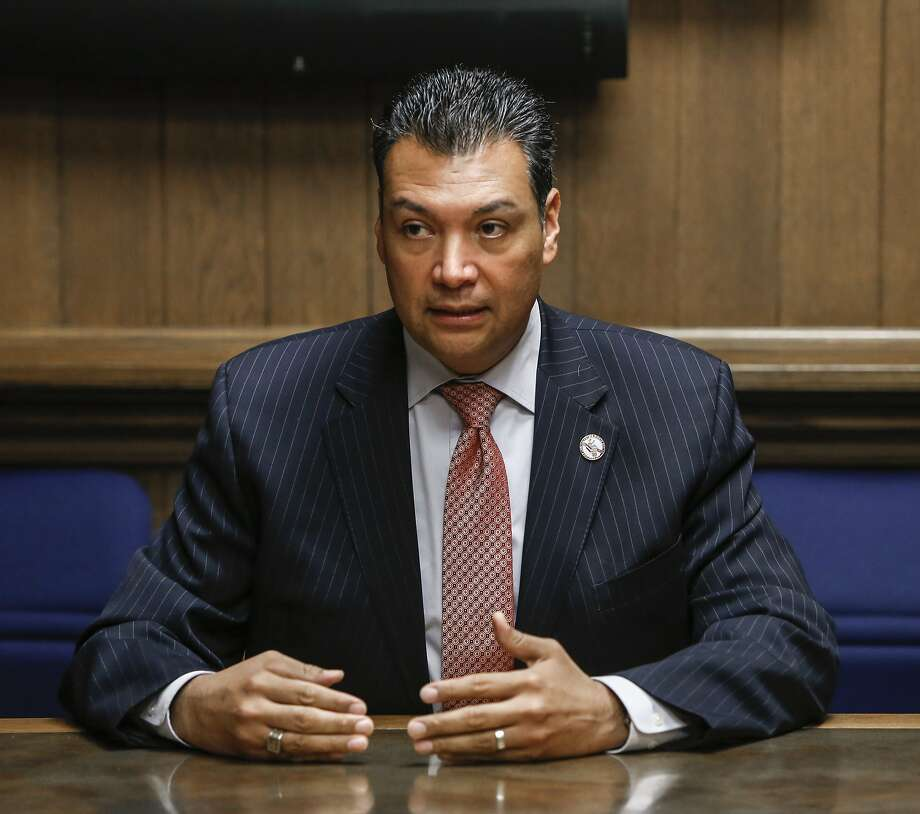 California Secretary of State Alex Padilla addresses the San Francisco Chronicle's editorial board on Wednesday, Aug. 26, 2015 in San Francisco, Calif. Photo: Russell Yip, The Chronicle