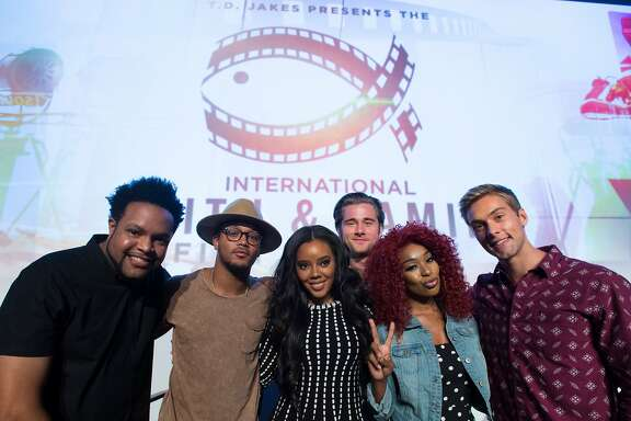 DALLAS, TX - AUGUST 22:  Jawn Murray, Romeo Miller, Angela Simmons, Luke Benward, Porscha Coleman and Austin North pose after the MegaFest Millennial Panel at The Omni Hotel Texas on August 22, 2015 in Dallas, Texas.  (Photo by Cooper Neill/Getty Images for MegaFest)