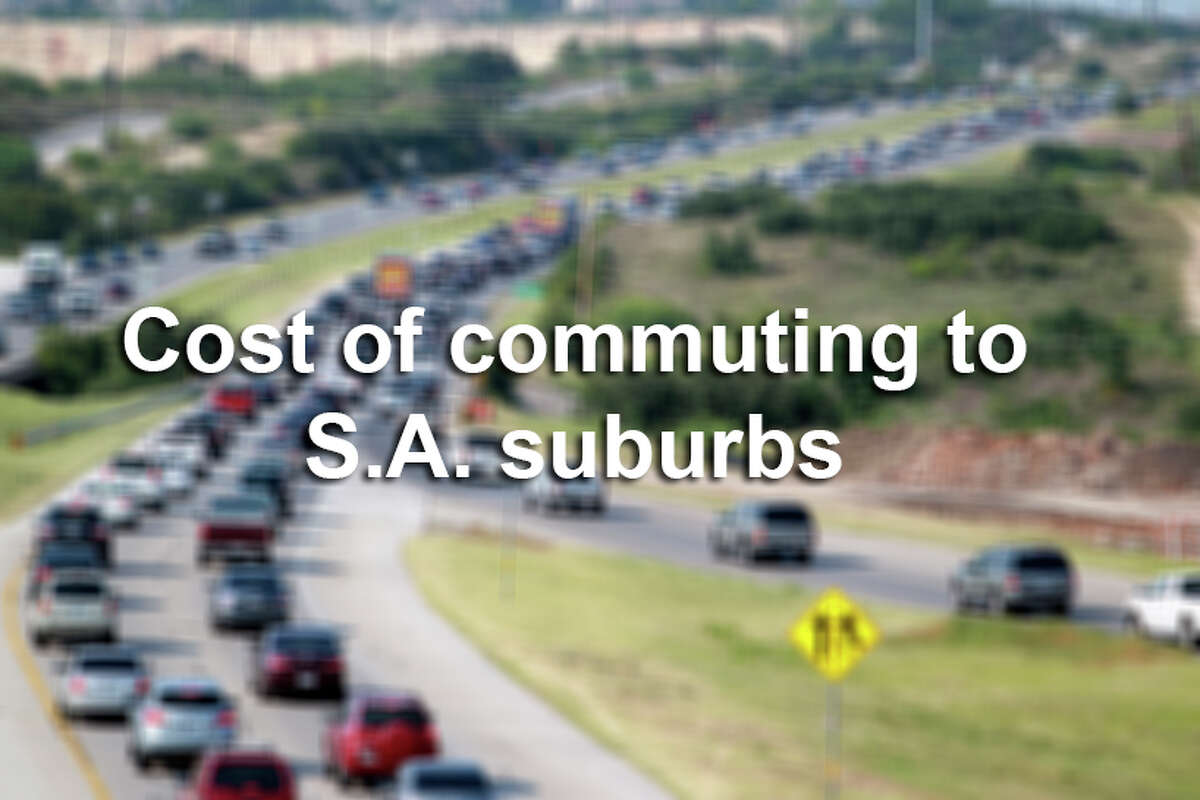 Click through the slideshow to see the cost of commutes from different San Antonio suburbs and destinations to downtown.