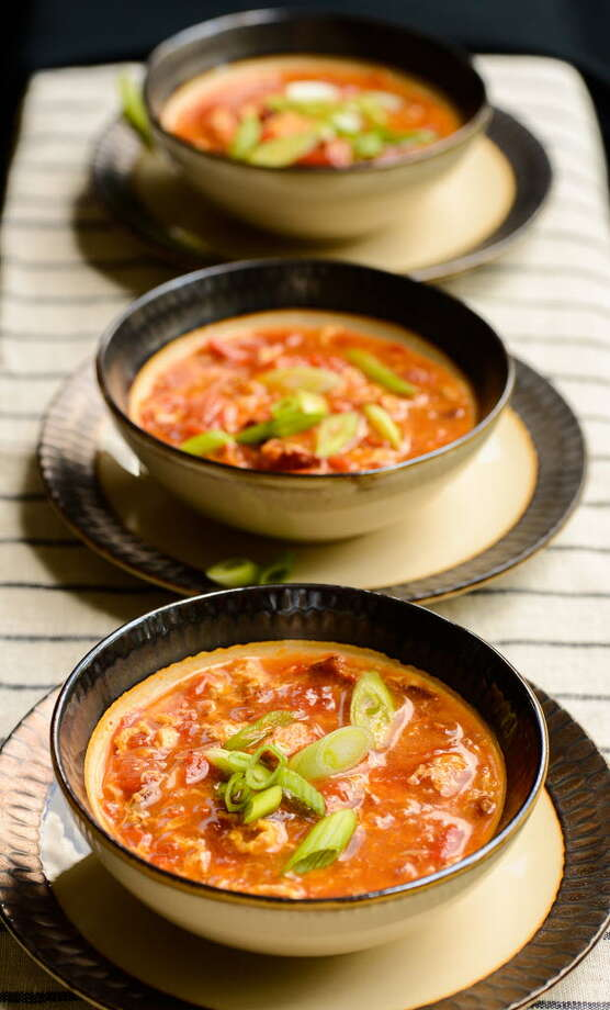 tomato egg drop soup / Dixie D. Vereen for The Washington Post