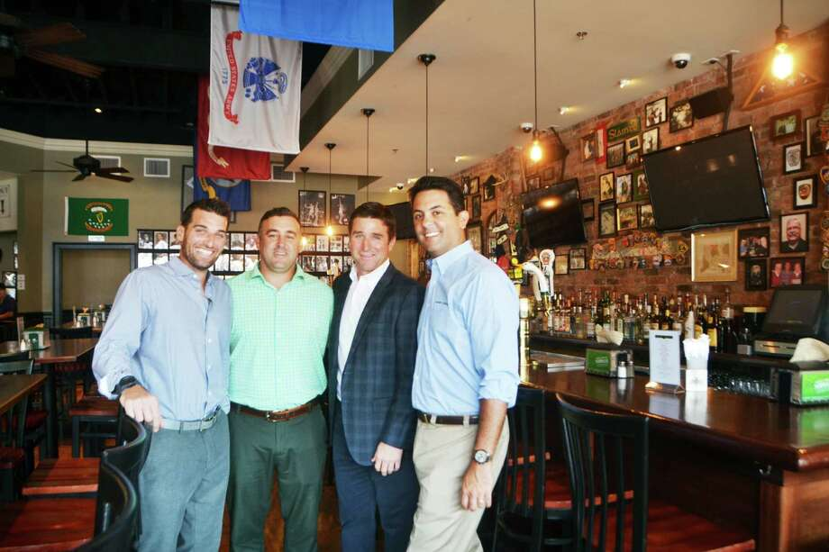 Partners Paul Coniglio, Cody Lee, Chris Drury, and Ken Martin of Colony Grill in Fairfield on July 28. Photo: Bailey Wright / For Hearst Connecticut Media / Connecticut Post Freelance