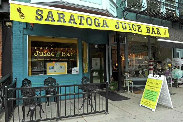 Saratoga Juice Bar on Wednesday Aug. 26, 2015 in Saratoga Springs, N.Y. The MacLeans are selling one of their other Saratoga establishments, Crown Grill, to focus more effort on their high-end juice business. (Michael P. Farrell/Times Union) Photo: Michael P. Farrell / 00033131A